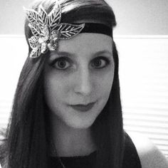 The Great Gatsby Headband, ARIA, Flapper Headband, Leaf Headband, 20s Headband, Silver Headband on Etsy, $35.00