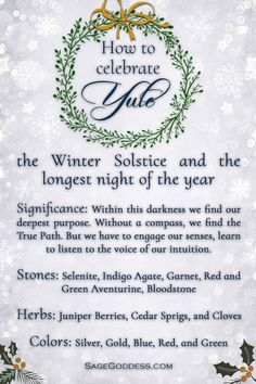 Yule, or Winter Solstice, is the longest night of the year. Every year on we celebrate the arrival of winter and in the northern hemisphere. Pagan Yule, Samhain, Yule Traditions, Pagan Christmas, Yule Celebration, Wiccan Sabbats, Yule Decorations, Magick Book