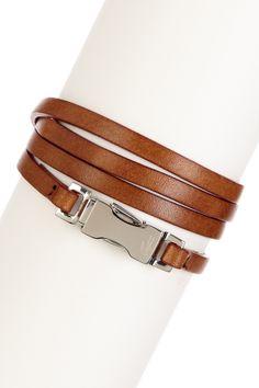 Thin Leather Wraparound Bracelet/Necklace