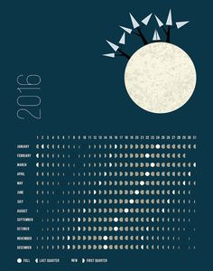 Moon Phases Calendar for 2016 – NORTHERN Hemisphere!   The Moon Phases for the Southern Hemisphere You can find under: