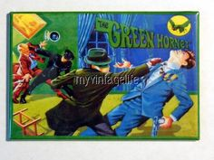 "Vintage THE GREEN HORNET Lunchbox 2"" x 3"" Fridge MAGNET"