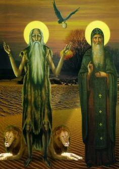 Abba Pawli - St. Paul - Hermit & St. Anthony the Great - Abba Antony - Abbot Antonius