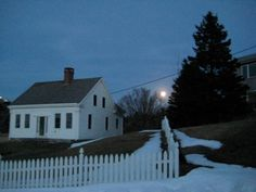Full moon over Monhegan Island, Maine. Photo taken by the folks at The Black Duck Emporium, one of my fav stores on my fav island...