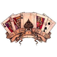Image result for playing. card tattoos