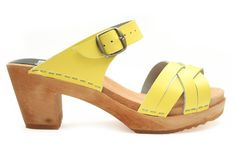 995 high plait sandal yellow - clogs & sandals FUNKIS $139