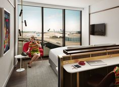 The rooms are designed to bring guests back to the <i>Mad Men</i> days. - TownandCountrymag.com