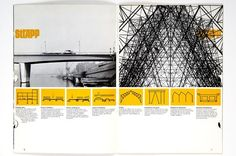 spread from an architectural brochure by Paul Gabor (1960's)