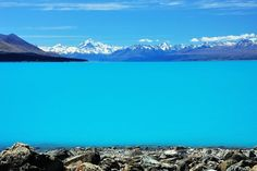 View of Mt. Cook from Lake Pukaki - New Zealand - we had a near identical view from our camping spot one time!