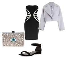 Dinner date by erica-brooks-i on Polyvore featuring polyvore, fashion, style, Leka, Zimmermann, Stuart Weitzman, GEDEBE and clothing