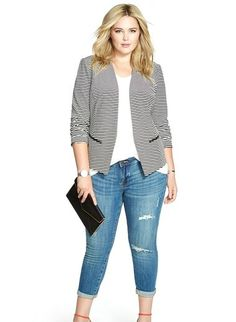 Plus Size Knit Jacket womanaccesories.s - Women Plus Size Jackets - Ideas of Women Plus Size Jackets - Plus Size Knit Jacket womanaccesories. Curvy Outfits, Casual Summer Outfits, Mode Outfits, Casual Dresses, Fashion Outfits, Fashion Ideas, Curvy Clothes, Peplum Dresses, Fashion Trends