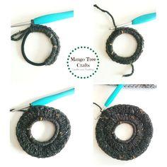 Mango Tree Crafts: Messy Bun Hat Free Crochet Pattern Size Adult