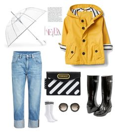 """""""🌂🌂"""" by obretin-raluca on Polyvore featuring Brunello Cucinelli, Forever Young, ShedRain, Off-White, Forever 21 and Gucci"""
