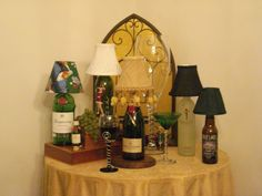 lamps - could make sgades with your invites on cheaper paper OR with your decoration on them.