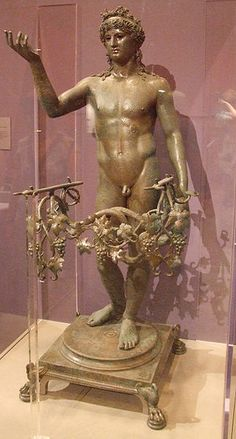 Bronze statuette of Bacchus found in the House of Marcus Fabius Rufus at…