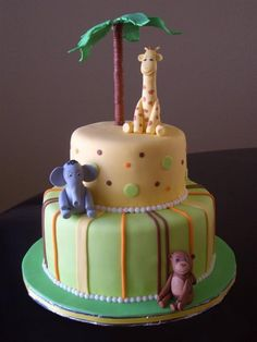 jungle theme baby shower cakes | Celebration Cakes For All...