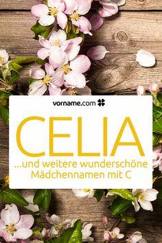 Dir gefällt der Vorname Celia? Hier findest Du weitere wunderschöne Namen für Mädchen und Jungen, die mit C beginnen.