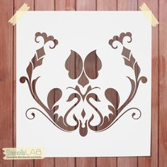 Damask Stencil For Wall Decor - Reusable Wall Stencil - Furniture Stencil