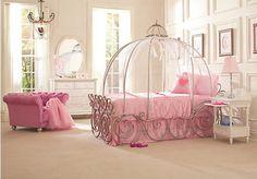 decoracao-quarto-infantil-disney-cama-cinderella-rosa