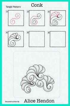 My Patterns - Alice Hendon Art Doodle, Mandala Doodle, Tangle Doodle, Tangle Art, Zentangle Drawings, Doodles Zentangles, Doodle Drawings, Easy Zentangle Patterns, Zen Doodle Patterns