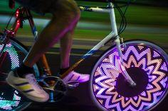 M232 Monkey Light bicycle wheel light.  Photo by Antoine Pethers Urban Bike, Motorized Bicycle, Motorcycle Wheels, Bicycle Lights, Luz Led, Bmx, Bike Life, Cruiser Bike Accessories, Monkey