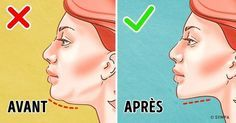 The best way to get rid of a double chin is usually through diet and exercise. If you'd like to lose weight your chin area, there are several approaches you Double Chin Exercises, Neck Exercises, Facial Exercises, Toning Exercises, Reduce Face Fat, Lose Weight In Your Face, How To Lose Weight Fast, Reduce Weight, Fitness Workouts