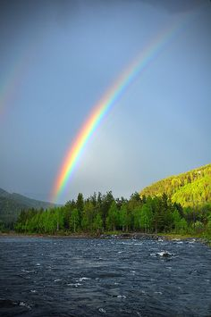 A rainbow in the Hallingdal valley.  Hemsedal is one of the communities in the valley. Beautiful!