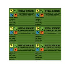 geocaching printables