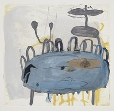 "This piece is ""Birdbath No. 1"" Formatting Mixed Media Mixed Media on Paper (22 x 30 in)"