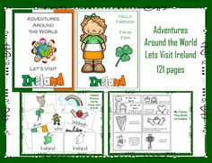 I have up-dated the Adventures Around the World - Let's Visit Ireland. From 42 pages to 121 pages. Fun resource to learn about Ireland. Please click on picture to access the 1 - 2 - 3 Learn Curriculum web site and learn how to become a member. Thank you! Jean 1 - 2 - 3 Learn Curriculum