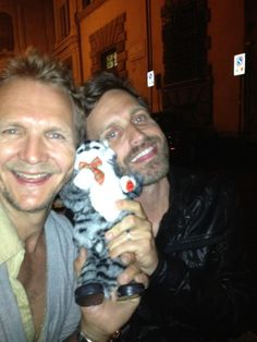 Sebastian Roche and Rob Benedict in Rome, they are so sweet to Tweet pics for us fans! @ JIB3.