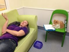 It is therapeutic working at the Humane Society.