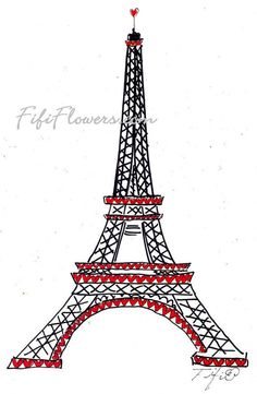 Happy Valentines painting from Fifi Flowers #Paris #ValentinesDay #Love #Fifi