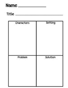 Kindergarten Graphic Organizer FREEBIE