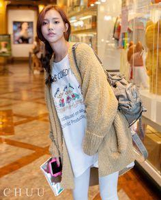 Baggy Open Knit Cardigan  #outerwear #knit #chuu #autumn #fall