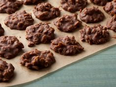 Chocolate Peanut-Butter No Bake Cookies : Chocolate, peanut butter and oatmeal are mixed together to create a rich, gooey dough that forms into cookies once cooled — no oven needed.