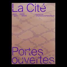 """Gefällt 353 Mal, 3 Kommentare - Balmer Hählen (@balmerhahlen) auf Instagram: """"New poster for Portes ouvertes, la Cité 2017, Lausanne. 09.12.2017 #poster #lacité #lausanne…"""""""