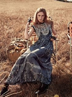 i'm with the band: carolyn murphy, grace hartzel, rianne van rompaey and gary clark by craig mcdean for us vogue march 2016 | visual optimism; fashion editorials, shows, campaigns & more!