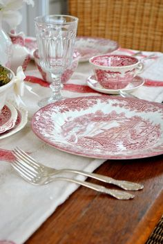 Red Transferware :: from the Grower's Daughter