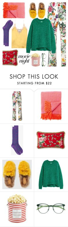 """""""Bring the Popcorn: Movie Night"""" by sproetje ❤ liked on Polyvore featuring Gucci, Kate Spade, The Hampton Popcorn Company, EyeBuyDirect.com, movieNight, gucci, WearIt and chunkyknits"""