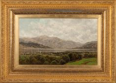 """View of Silver Bay, Lake George,"" John Bunyon Bristol, oil on canvas, 18 x 30"", private collection."