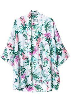 Floral Kimono Top- pretty colors and print