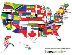 Infographics Showing The United States From Different Perspectives