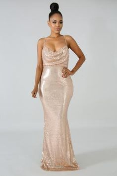 Rose Gold Wedding Dress, Rose Gold Sequin Dress, Champagne Bridesmaid Dresses, Mermaid Bridesmaid Dresses, Sequin Maxi, Rose Gold Bridesmaid, Champagne Gold Dress, Gold Color Dresses, Copper Dress