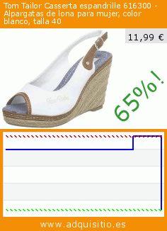 Tom Tailor Casserta espandrille 616300 - Alpargatas de lona para mujer, color blanco, talla 40 (Zapatos). Baja 65%! Precio actual 11,99 €, el precio anterior fue de 33,80 €. https://www.adquisitio.es/tom-tailor/casserta-espandrille-3