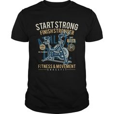 878904ee0631b Start Strong Finish Stronger Fitness and Movement Cross Fit T-Shirts