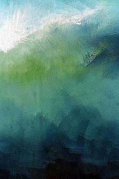Nalu. Contemporary, abstract landscape paintings by Anne Stahl inspired by the oceans. #abstractart #ResidentialLandscape