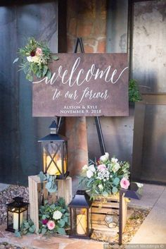wedding signs for reception . wedding signs for reception entrance . wedding signs for kids to carry . wedding signs for reception funny Rustic Wedding Signs, Wedding Welcome Signs, Chic Wedding, Wedding Table, Wedding Ideas, Rustic Weddings, Wedding Signing Table, Wedding Planning, Dream Wedding