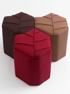 autumn leaf shape footstools design by nico autumn furniture