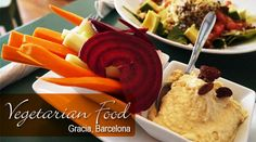 Vegetarian & vegan restaurants in the beautiful neighborhood of Gracia in Barcelona.