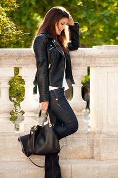 6b5038b1c Mujer Piel Negra Negra Zara Mujer Piel Chaqueta Chaqueta Piel Zara ...